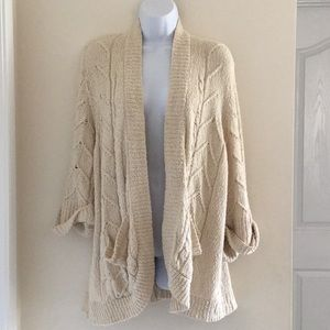ANTHROPOLOGIE SPARROW OPEN FRONT CARDIGAN SWEATER